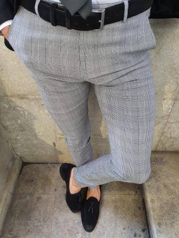 38846 Kumaş Pantolon Siyah - Pantolon