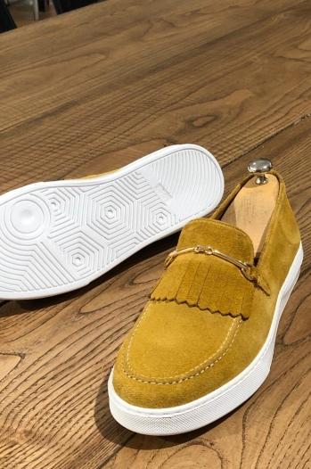 126 Babet Süet sarı - Günlük Ayakkabı