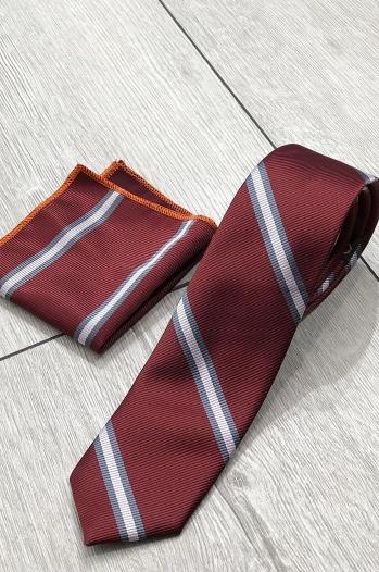 Kravat Mendil Bordo - Aksesuar