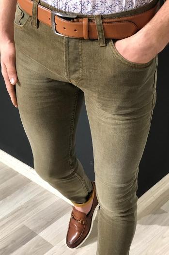 6737 kot pantolon taba - Pantolon