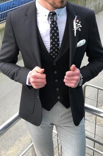 40531Ceket Siyah - Ceket