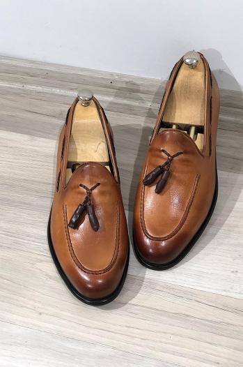 6120 Ayakkabı Klasik Babet Taba