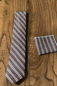 Kravat Mendil Kahverengi