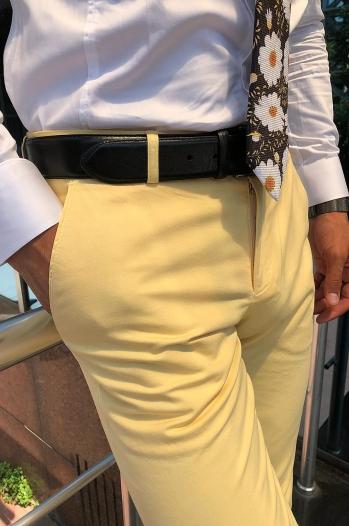 38542 Pantolon Sarı - Pantolon