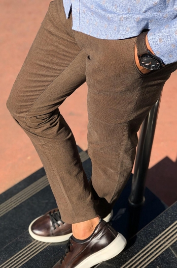 38581 pantolon camel - Pantolon