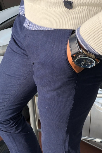38581 pantolon lacivert - Pantolon