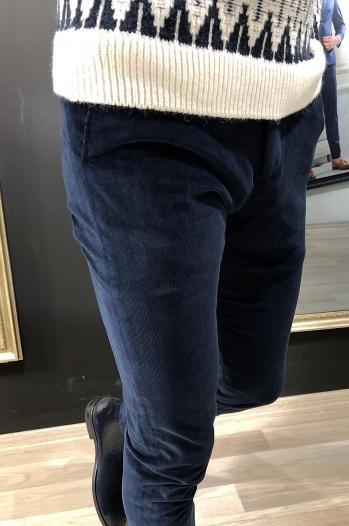 38804 Pantolon Kadife Lacivert - Pantolon
