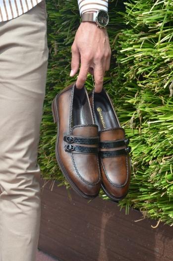 067 Çift Tokalı Ayakkabı Kahve