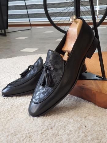 11530 Neolit Taban Deri Ayakkabı Siyah