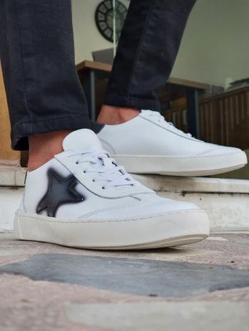 506 Sardinelli Özel Üretim Kauçuk Taban Bağcıklı Sneakers Beyaz
