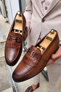 6066 Toka Detaylı Ayakkabı Taba