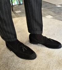 6120 Sardinelli Özel Üretim Süet Deri Ayakkabı Siyah
